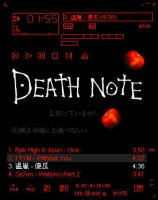 Winamp Skin - Death Note 1 by Katana2486
