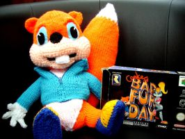 Conker cuddly toy by ThePrinceofMars