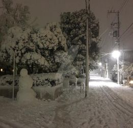 Snow in Japan by WhiteKnightDante