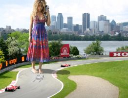 Shakira at the Grand prix by Accasbel