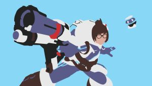 Overwatch Vector Wallpaper - Mei by choren64