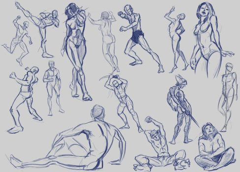 More Figure Drawing - Mostly quick - 1-10 min by LucasZebroski