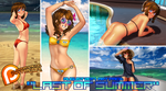 Patreon August 2017 Last of Summer Art Pack! by MLeth