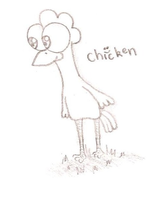 Chicken by supahappysunshine