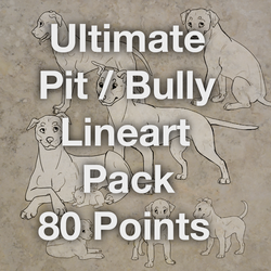 Ultimate Pit/Bully Line-art Pack! by WagginKennelClub