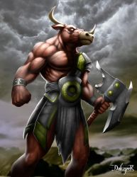 Minotaur commission 2016 by DakzpeR