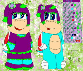 Micole The Koopa Refernce Sheet With Bio by NicoleTheKoopa