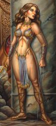 Ariadna and the Minotaur detail 2 by benyhibridos