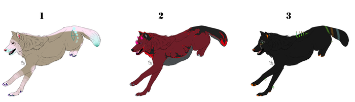 Wolf Adopts (open) by vladheart