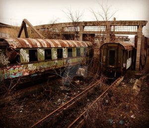 The Abandoned trains by photomani4c