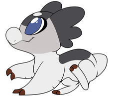 New Wyngling- Little Silverwind by RainbowGuppy1
