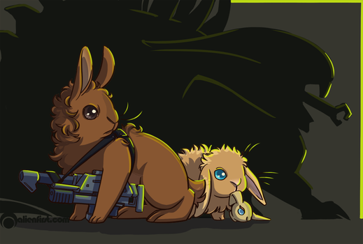 bunday - ripley and newt by alienfirst