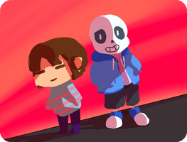Frisk and Sans by Arcamira