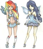 RD and Rarity winx by Aii-Cute