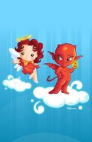 Angel and Demon Friendship forever :) by naylapulga