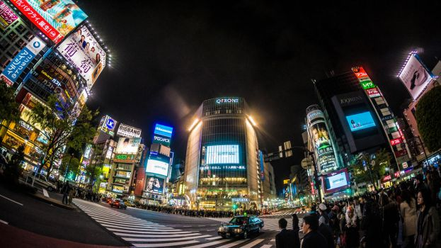 Lights of Shibuya by Sertechaun