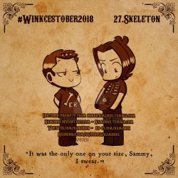 Winkcestober day: 27 Skeleton by KamiDiox