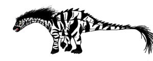 All Yesterday's work: Zebra-saurus by DinoBirdMan