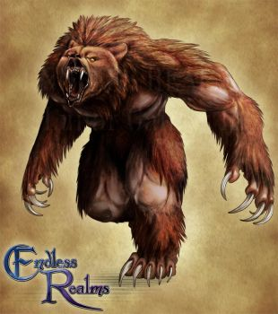 Endless Realms bestiary - Werebear by jocarra