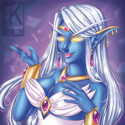 WoW Baddies Buttons - Azshara by FKDemetri