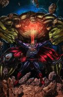 New 52 Superman vs. Hulk Colored by jey2dworld