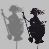 Baba Yaga - Shadow Puppet by PaperTales