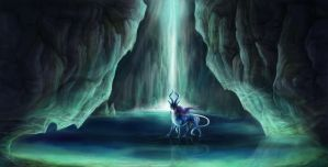 Suicune's Crystal Lake by Leashe