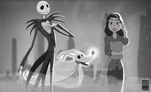 Paper NIGHTMARE BEFORE CHRISTMAS by EadgeArt