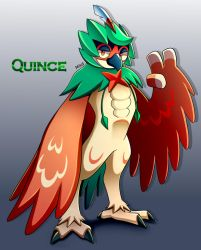 Quince the Decidueye by LucarioOcarina