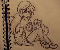 A smol kitty appears / GIFT by ChristinaDoodles