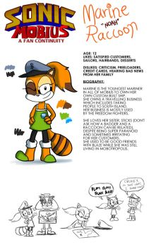 Marine the Raccoon - Character Sheet by lazyradly