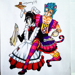 Grimmy and Ulqui in Wonderland! by ToshieF