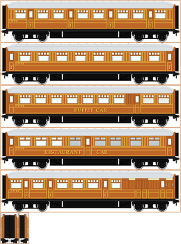 LNER Teak Coaches by Princess-Muffins