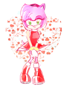 Amy Rose sonic by MegumiNoLove