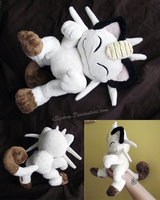 Posed Meowth Plush - Other Views