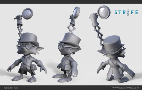 Inspector Ray - Sculpt by Dvolution