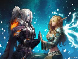 WorldofWarcraft couple by Dixneuf84