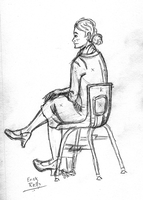 Seated Sketch E8 by Erikku8