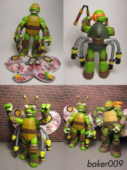 TMNT 2012 TurFLYtle Mikey by Baker009