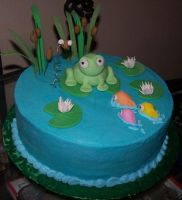 Frog Cake by stacylambert