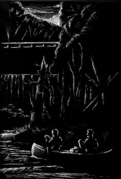 Illustration for Orig'l Weird Tale, Two Islands by mgkellermeyer