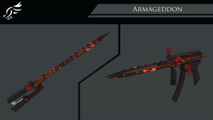 'Armageddon' -RWBY OC Weapon (Commission) by DenalCC1010