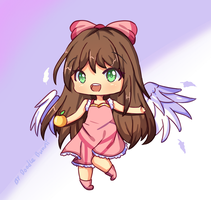 FanArt - Pink Angel! by DoodleBunni