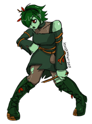 Skullgirls OC - BeWitching Zombie Girl by athorment