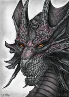 Dragon Drawing by Bajan-Art
