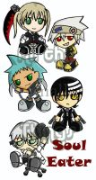 Soul Eater chibis by Kasandra-Callalily