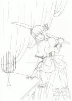 Light girl - Lineart by HanaKo-Hyuuga