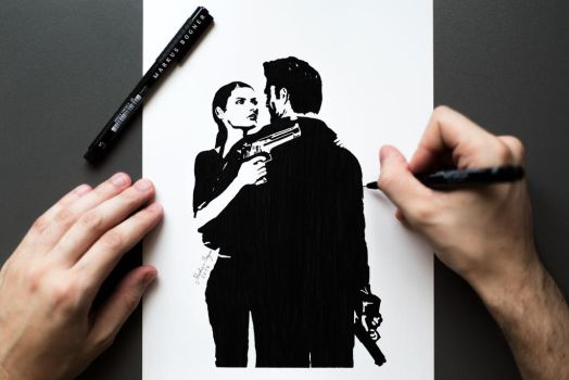 Max Payne and Mona Sax by MarkusBogner