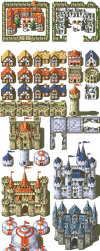 32px Fire Emblem-style tileset: Buildings by CMagister