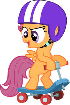 Scootaloo and her Scooter by qazwsx302